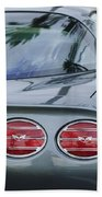 Chevrolet Corvette Tail Light Beach Towel