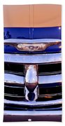Chevrolet Pickup Truck Grille Emblem Beach Towel