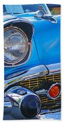 Chevy Headlight Beach Towel