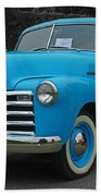 Chevy Pick-up With Bw Background Beach Towel