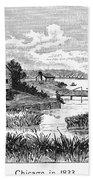 Chicago, 1833 Beach Towel