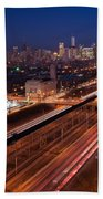 Chicago Illumina Beach Towel