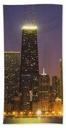 Chicago Skyscrapers With John Hancock Beach Towel
