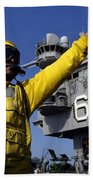 Chief Aviation Boatswains Mate Directs Beach Towel by Stocktrek Images