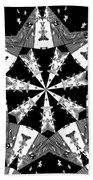 Children Animals Kaleidoscope Black And White Beach Sheet