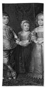Children Of Charles I Beach Towel