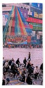 China Chengdu Morning Beach Towel by First Star Art