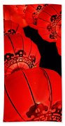 Chinese Lanterns 3 Beach Towel