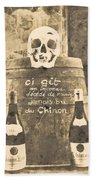 Chinon Wine  Beach Towel
