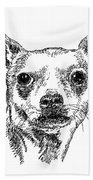 Chiwawa-portrait-drawing Beach Towel