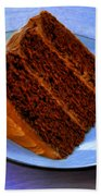 Chocolate Cake Beach Towel
