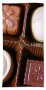 Chocolates Closeup Beach Towel