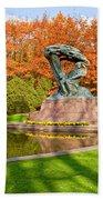 Chopin Monument In The Lazienki Park Beach Sheet
