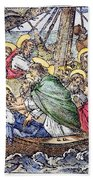 Christ And Apostles Beach Towel