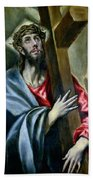 Christ Clasping The Cross Beach Towel