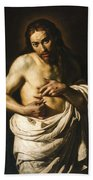 Christ Displaying His Wounds Beach Towel