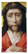 Christ In Crown Of Thorns Beach Towel