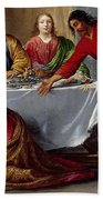Christ In The House Of Simon The Pharisee Beach Towel
