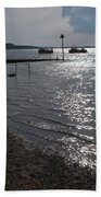 Christchurch Harbour Viewed From Mudeford Beach Towel