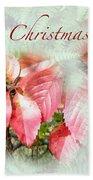 Christmas Card - Virginia Creeper In Autumn Colors Beach Towel
