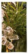 Christmas Crystal Angel 1 B Beach Towel