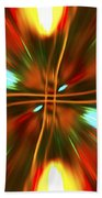 Christmas Light Abstract Beach Towel
