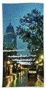 Christmas Lights Down Dauphin Street Beach Towel