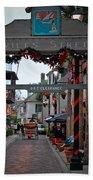 Christmas On Aviles Street Beach Towel by DigiArt Diaries by Vicky B Fuller