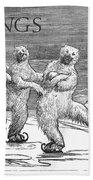 Christmas: Polar Bears Beach Towel