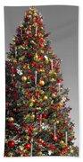 Christmas Tree At Pier 39 Beach Towel