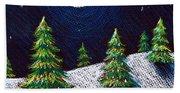 Christmas Trees II Beach Towel