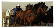 Rodeo Chuckwagon Racer Beach Towel