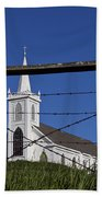 Church And Barbed Wire Beach Towel
