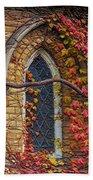 Church Window Autumn Beach Towel
