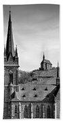 Churches Of Lorchhausen Bw Beach Towel