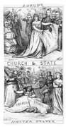Church/state Cartoon, 1870 Beach Towel