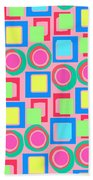 Circles And Squares Beach Towel