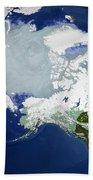 Circum-arctic Permafrost Beach Towel
