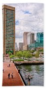 City - Baltimore Md - Harbor Place - Baltimore World Trade Center  Beach Towel