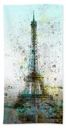 City-art Paris Eiffel Tower II Beach Towel