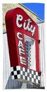 City Cafe Beach Towel