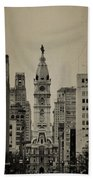 City Hall From North Broad Street Philadelphia Beach Towel
