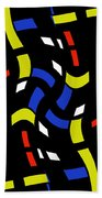 City Lights Abstract Beach Towel
