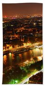 City Of Light Beach Towel by Elena Elisseeva