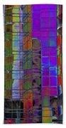 City Windows Abstract Pop Art Colors Beach Sheet