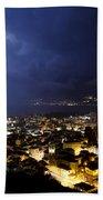 Cityscape At Night Beach Towel