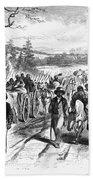 Civil War: Freedmen, 1863 Beach Sheet