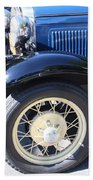 Classic Antique Car- Roaring Twenties - Detail Beach Sheet
