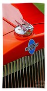 Classic Chevrolet Hood And Grill Beach Towel