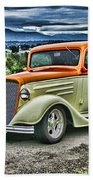 Classic Ford Hdr Beach Towel